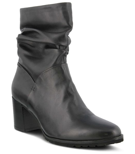 Spring Step bette bootie in black leather