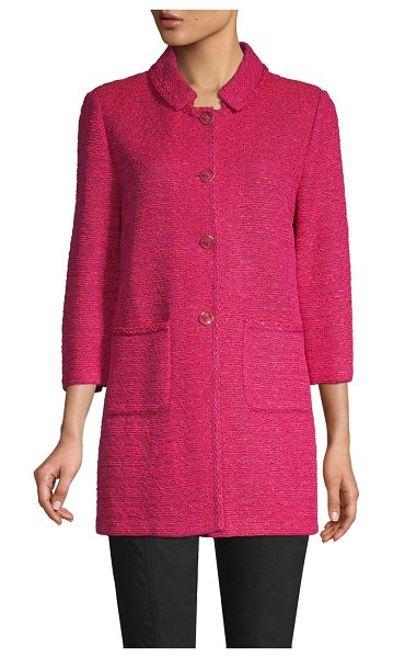 St. John Andrea Knit Jacket in pink