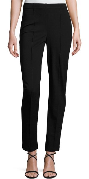 St. John Ponte Cropped Pull-On Pants in caviar