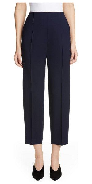 St. John grain de poudre stretch wool pants in navy