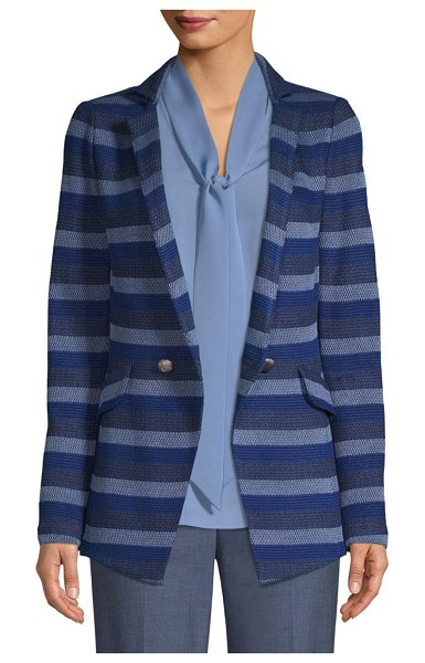 St. John Knit Stripe Blazer in blue multi