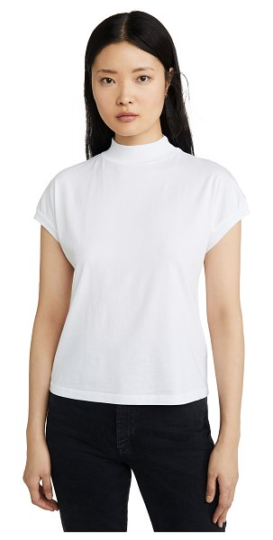 Stateside mock neck dolman top in white