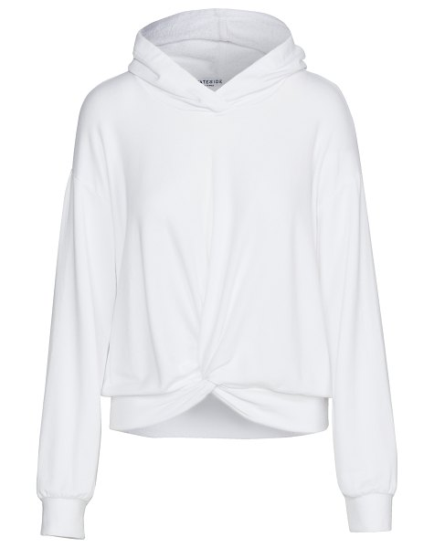 Stateside twist front hoodie in white