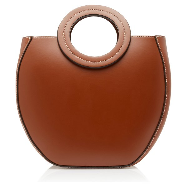 STAUD frida leather tote in brown