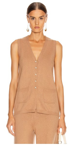 STAUD jo sweater vest in mocha