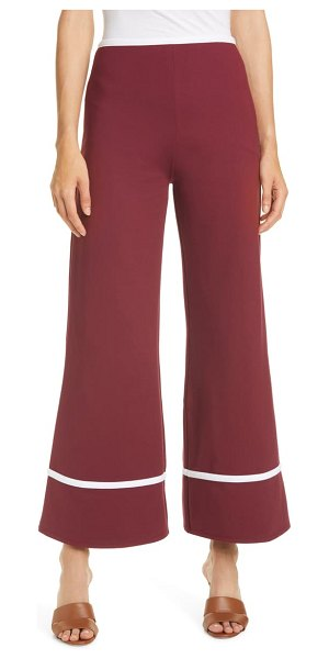STAUD julian stripe cuff crop wide leg pants in tawny port