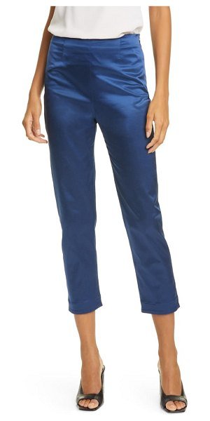 STAUD mikayel satin pants in midnight