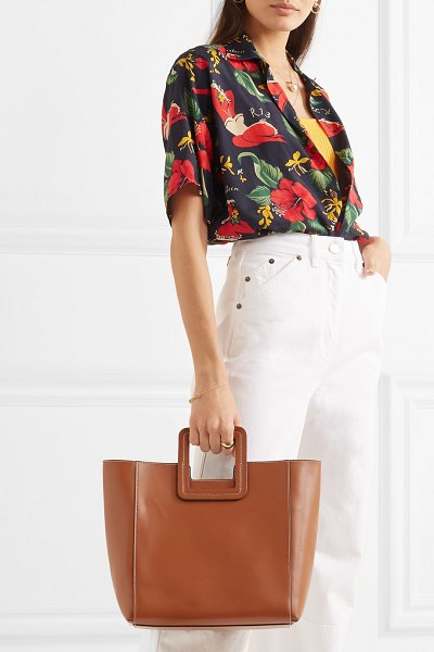 STAUD shirley leather tote in tan - From the cult 'Bissett' bucket bag to the best-selling...