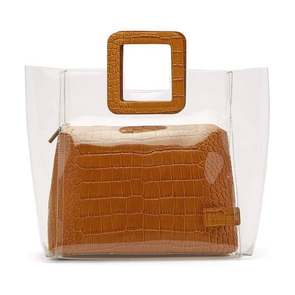 STAUD Shirley Pvc And Crocodile Effect Leather Tote in tan multi - Staud - A standout bag from Staud's coveted stable of...