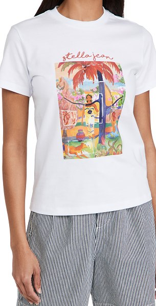 Stella Jean color swatch tee in white