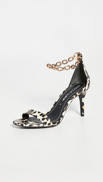 Stella Luna stella chain sandals in white/gold/black