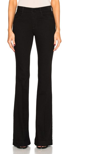 Stella McCartney 70's Flare Denim in black - 95% cotton 4% poly 1% elastan.  Made in Italy.  Machine wash.