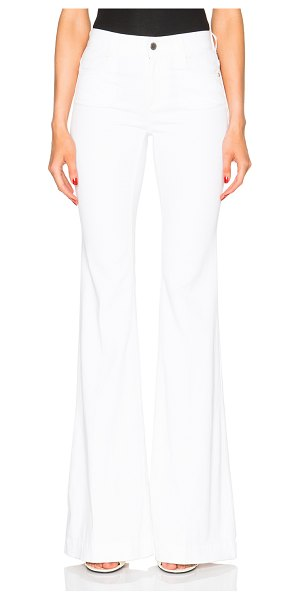 STELLA MCCARTNEY 70s Flare Jeans in white - 98% cotton 2% elastan.  Made in Italy.