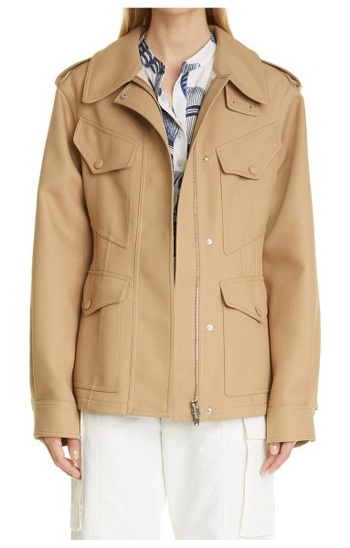 Stella McCartney ava twill field jacket in camel