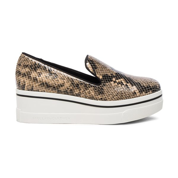 STELLA MCCARTNEY Binx Platform Loafers - Embossed faux leather upper with bio-degradable sole.  Made...
