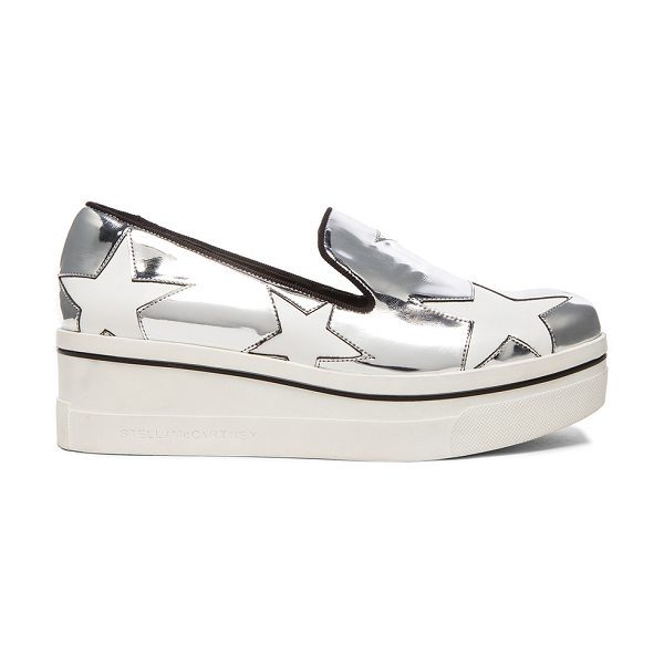 STELLA MCCARTNEY Binx Star Platform Shoes - Metallic faux leather upper with bio-degradable sole. ...