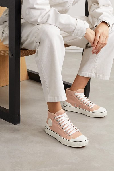 Stella McCartney canvas high-top sneakers in blush
