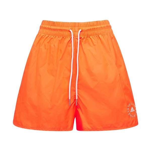 Stella McCartney Tech nylon mini shorts in coral