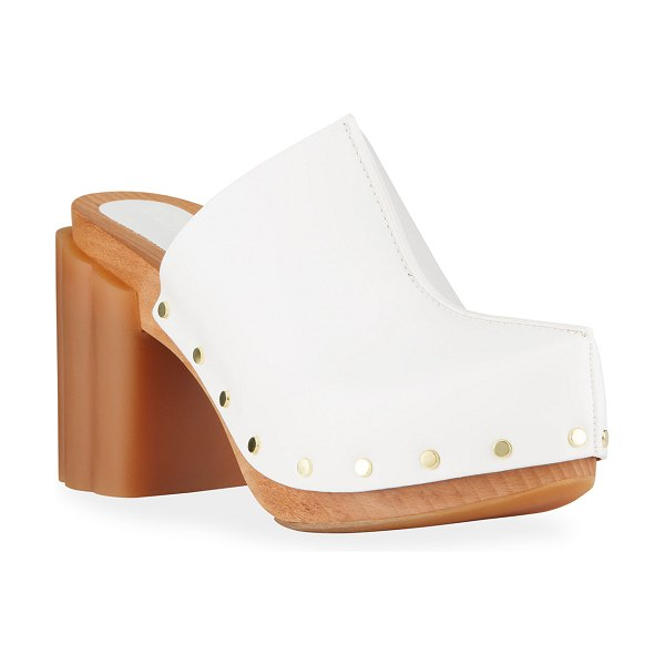 Stella McCartney Daisy Vegan Leather Slide Clogs in pure white
