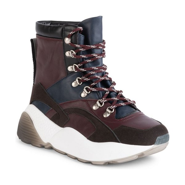 Stella McCartney eclypse chunky lace-up booties in plum