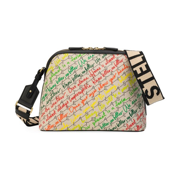 Stella McCartney Eco Monogram Slogans Shoulder Bag in multi pattern