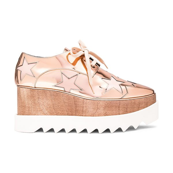 STELLA MCCARTNEY Elyse Star Platform Shoes in metallics,geometric print,pink - Metallic faux leather upper with bio-degradable sole. ...