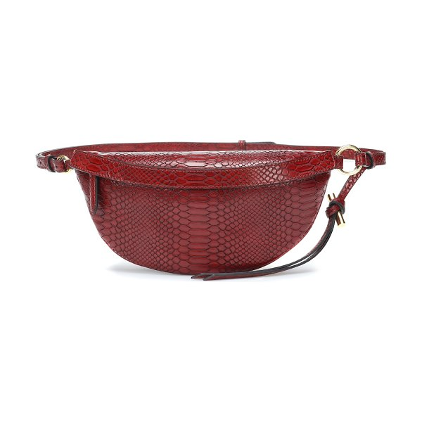 Stella McCartney Embossed faux leather belt bag in red - A leader in forward-thinking and sustainable...