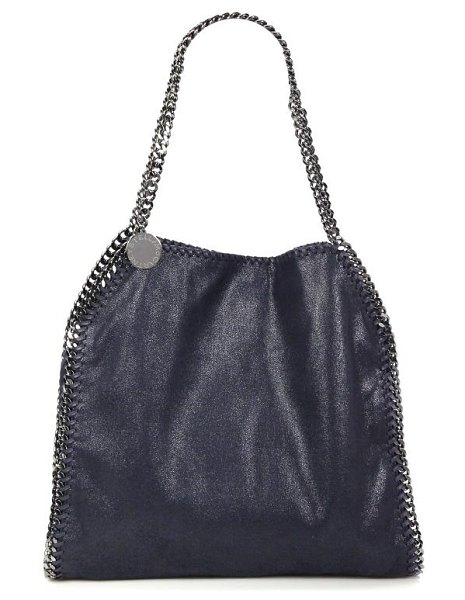Stella McCartney small falabella tote in black,feather blue,grey,navy