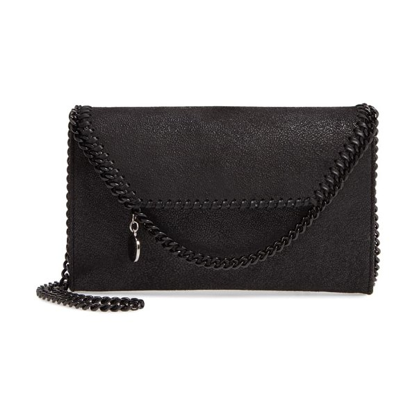 Stella McCartney falabella faux leather crossbody bag in black