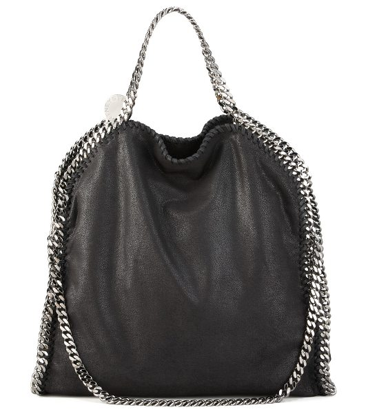 "STELLA MCCARTNEY Falabella Fold-Over Tote Bag - Stella McCartney ""Falabella"" faux suede (polyester) tote..."