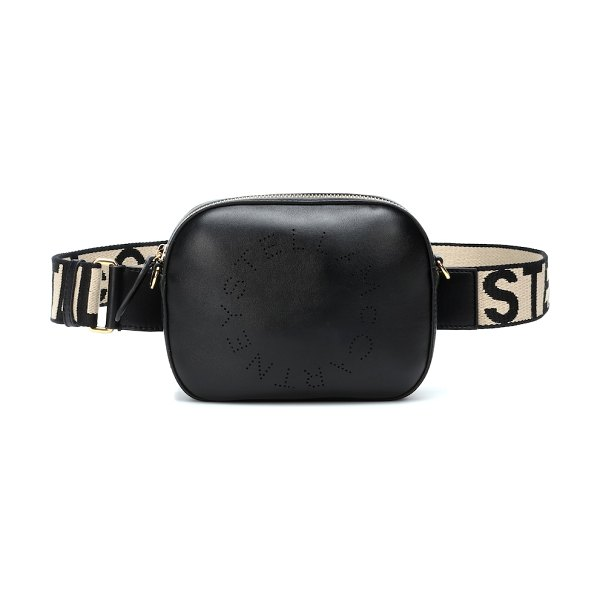 Stella McCartney faux leather belt bag in black