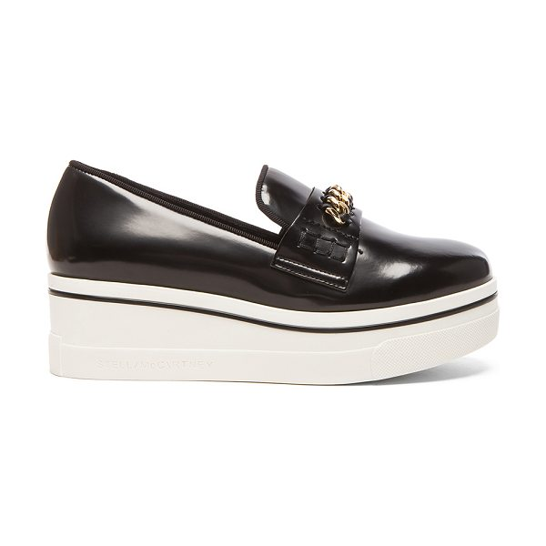 Stella McCartney Faux Leather Binx with Chain in black - Faux leather upper with bio-degradable sole.  Made in...