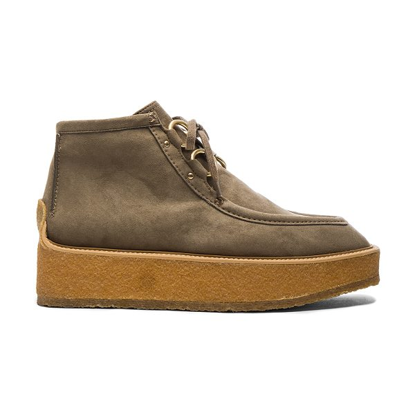 STELLA MCCARTNEY High Clipper Boots in neutrals - Faux suede upper with bio-degradable sole.  Made in...