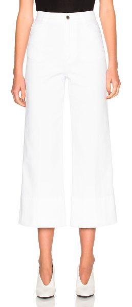 STELLA MCCARTNEY High Waisted Crop Trousers - 98% cotton 2% elastan.  Made in Italy.  Machine wash.