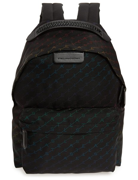 Stella McCartney logo eco nylon backpack in black - Everything you love about Stella McCartney bags meets in...