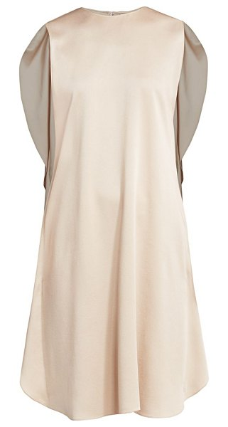 Stella McCartney mia satin cocktail dress in beige