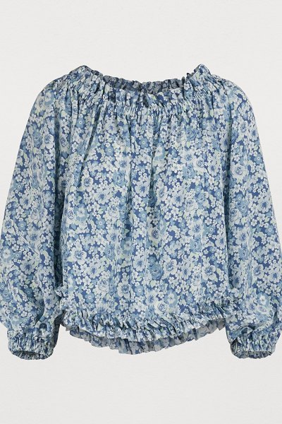 Stella Mc Cartney Silk top in 8487 - multicolor blue