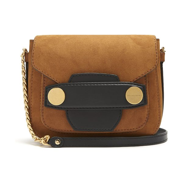 Stella McCartney Stella Popper faux-suede cross-body bag in tan - Stella  McCartney s db08283abb