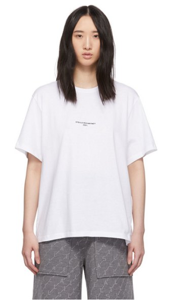 Stella McCartney white logo t-shirt in 9000 white