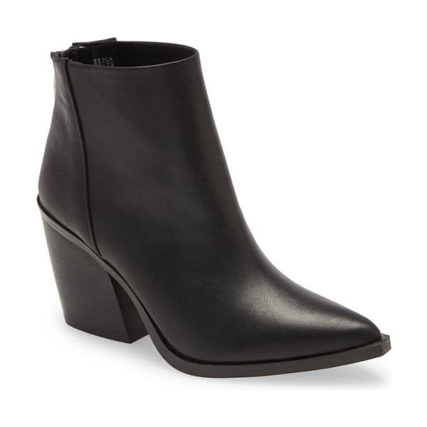 Steve Madden alert bootie in black leather
