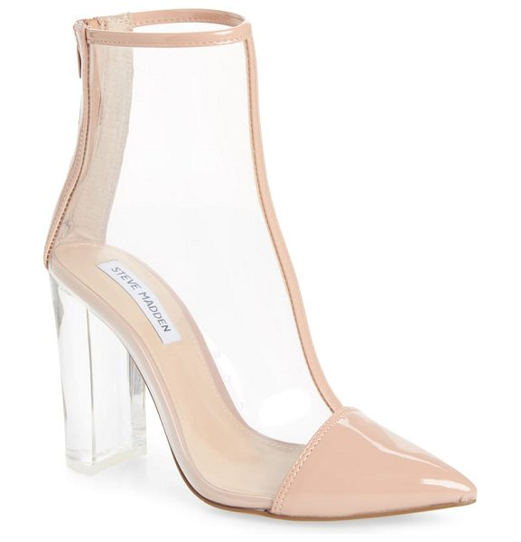 Steve Madden clancy bootie in pink - See-through footwear is clearly having a moment, and...