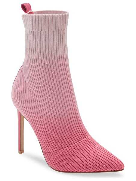 Steve Madden dianne ribbed knit bootie in pink multi