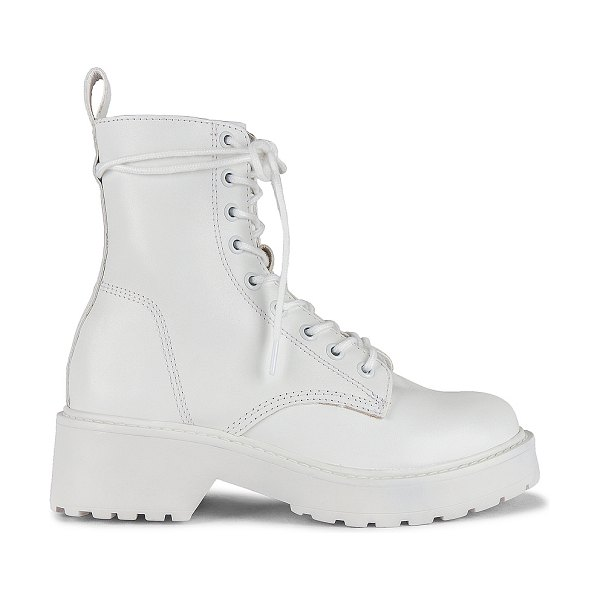 Steve Madden tornado boots in white leather