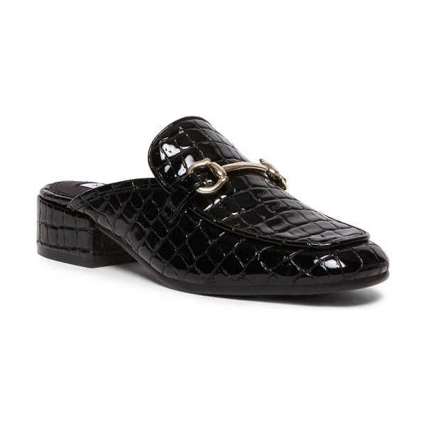 Steven by Steve Madden jalon loafer mule in black croco