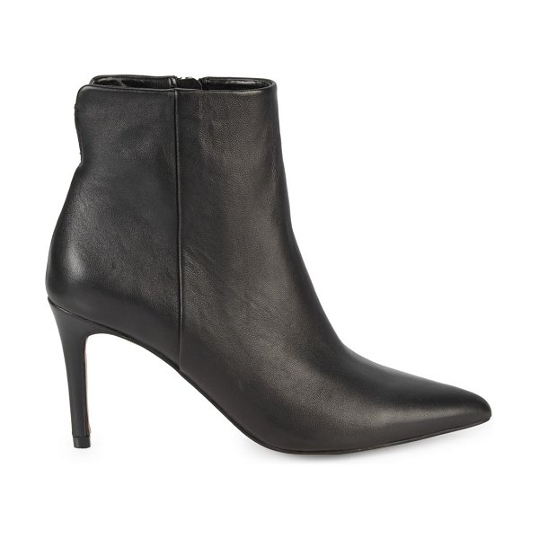 Steven by Steve Madden Leiland Leather Booties in black