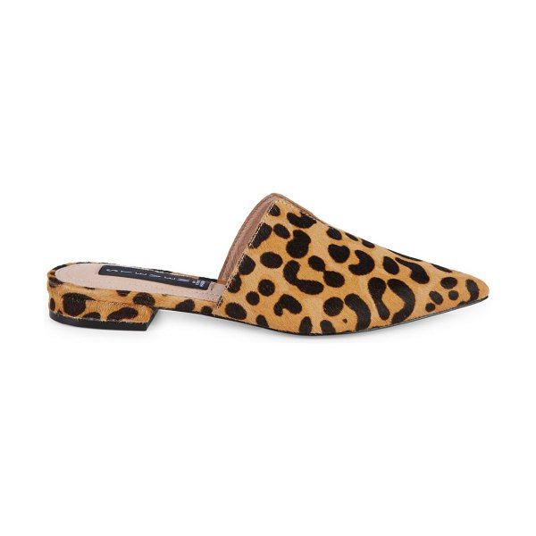 Steven by Steve Madden Lisse Leopard Cow-Hair Loafer Mules in leopard