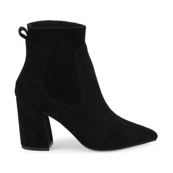 Steven by Steve Madden Newell Point-Toe Sock Booties in black