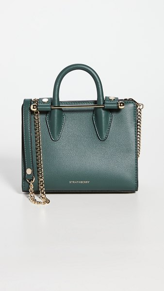 STRATHBERRY nano tote in bottle green