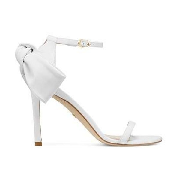 Stuart Weitzman andria 100 in white nappa leather
