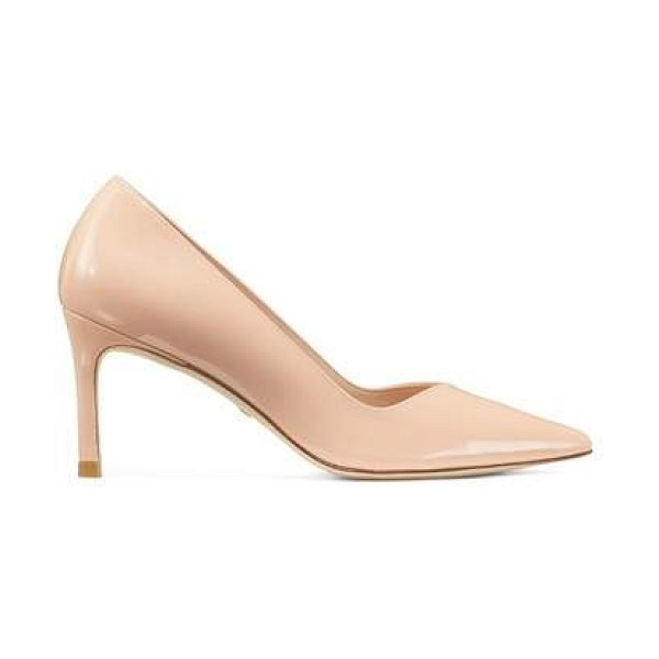 Stuart Weitzman anny 70 in poudre blush pink patent leather